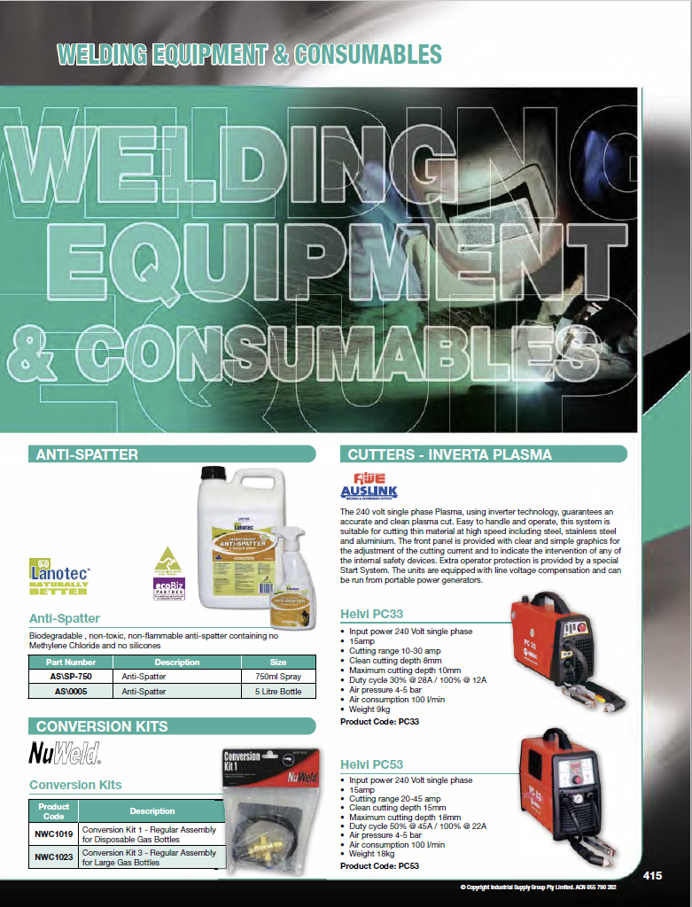 ISG Catalogue - Section 10 - Welding Equipment