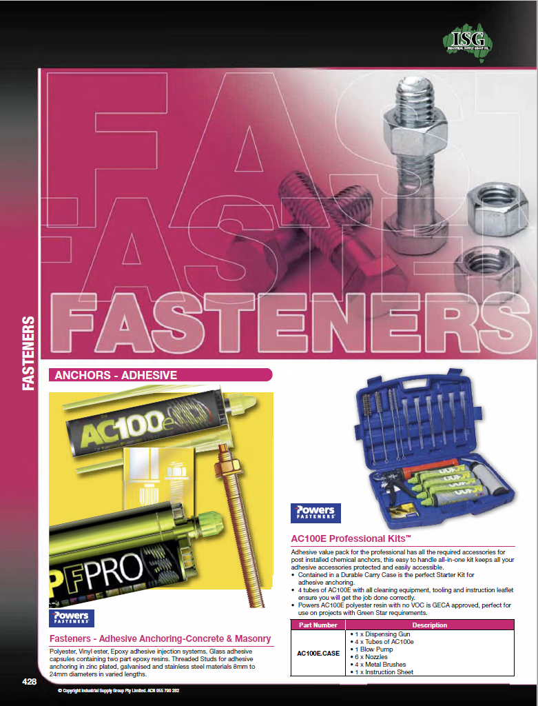 ISG Catalogue - Section 11 - Fasteners