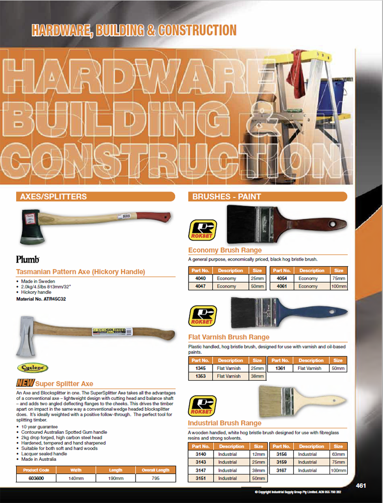 ISG Catalogue - Section 13 - Hardware