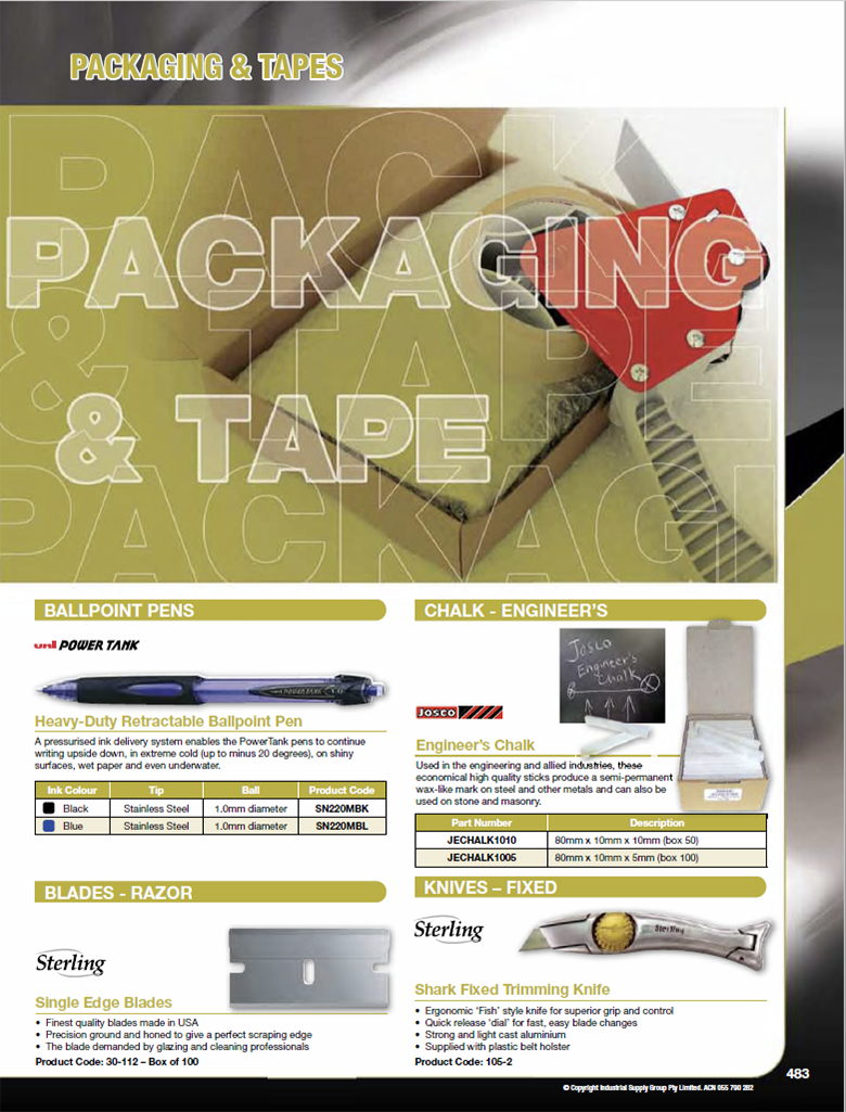 ISG CAtalogue - Section 15 - Packaging