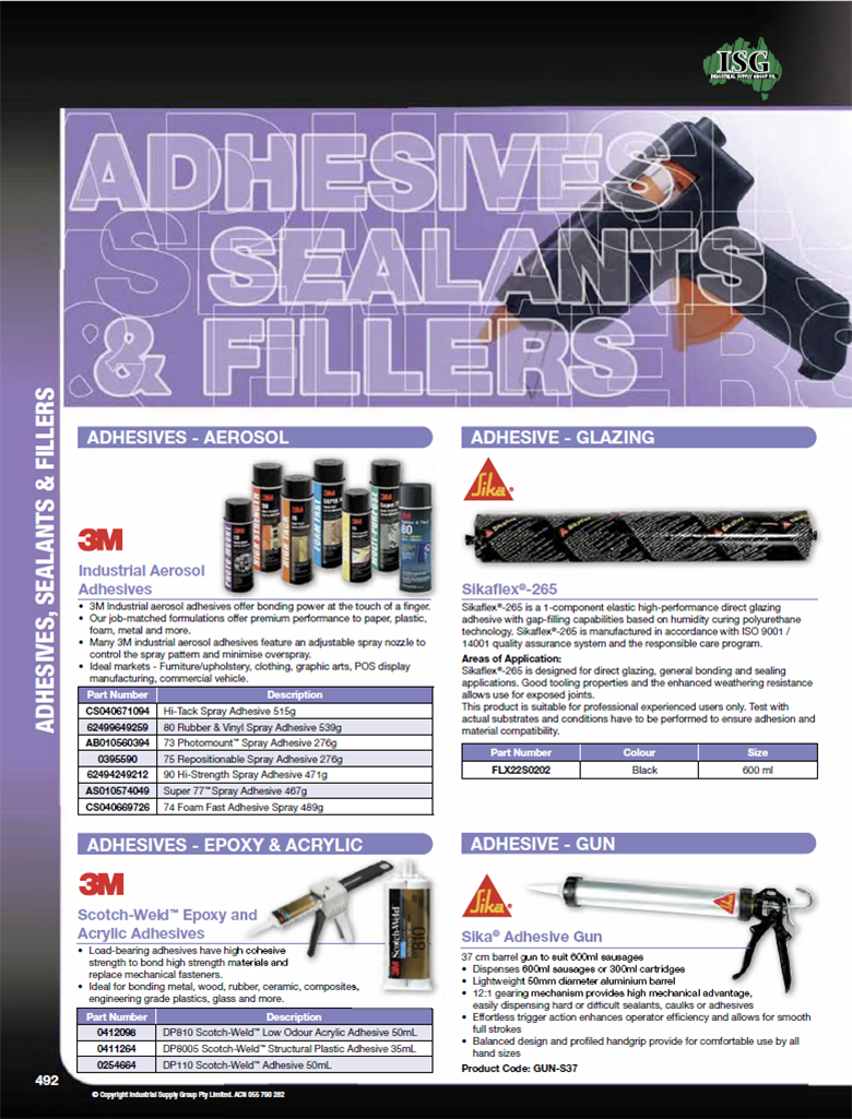 ISG Catalogue - Section 16 - Adhesives