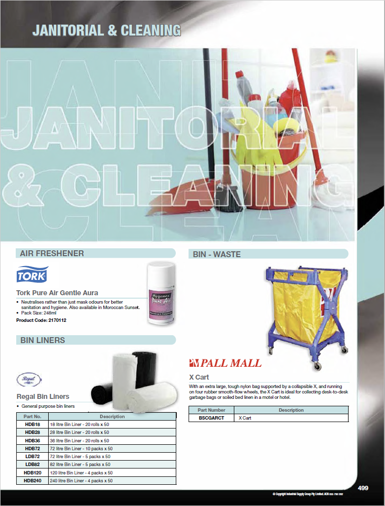 ISG Catalogue - Section 17 - Janitorial