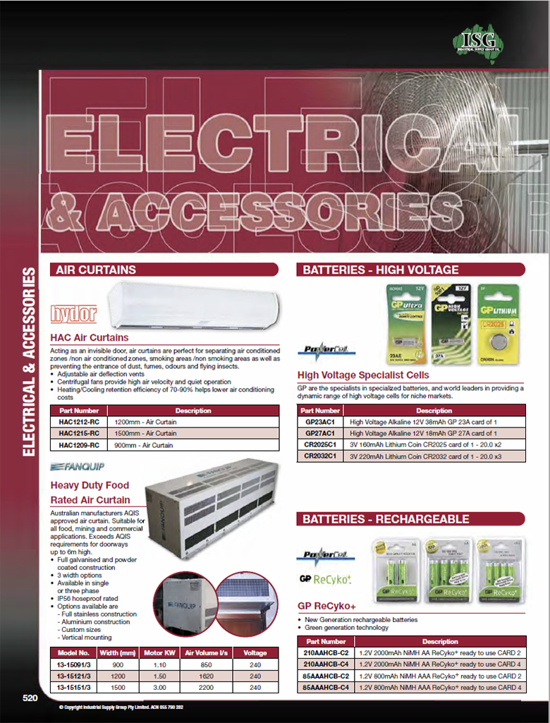 ISG Catalogue - Section 18 - Electrical