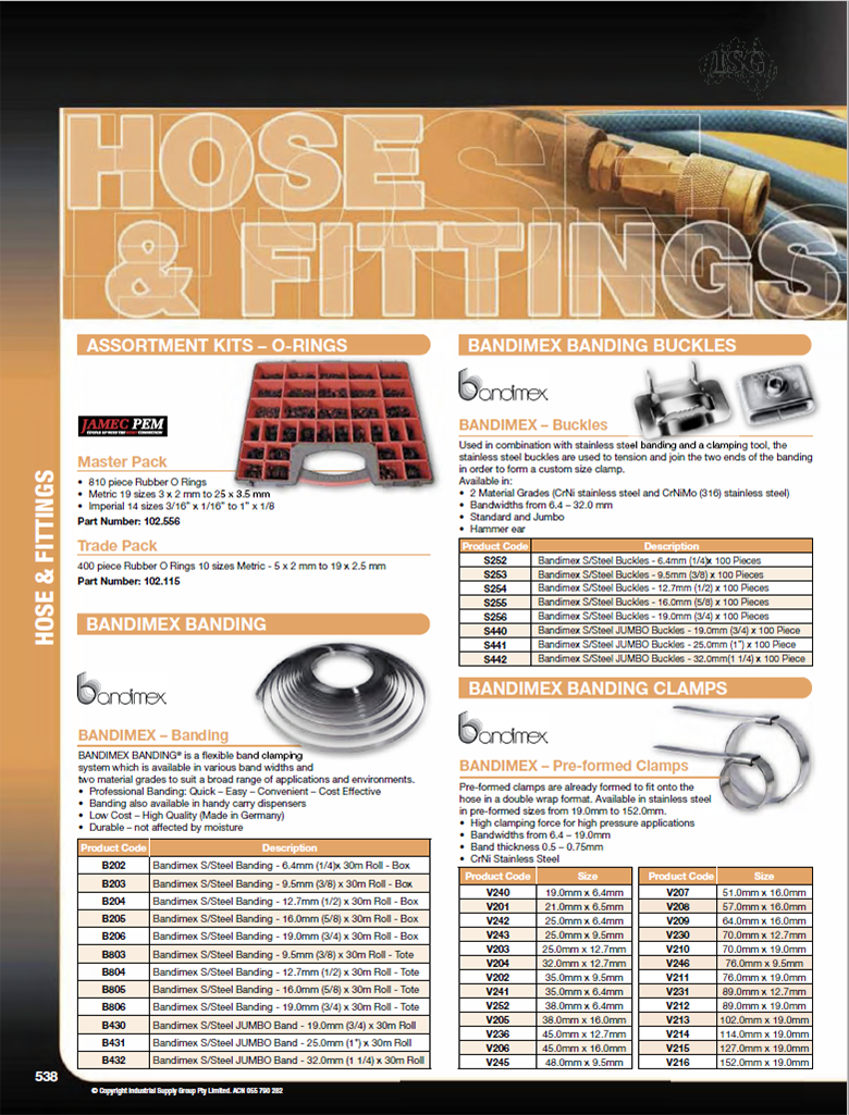 ISG Catalogue - Section 19 - Hose Fittings