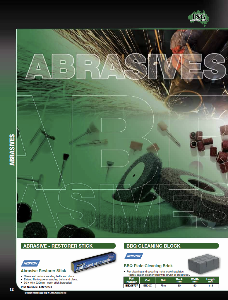 ISG Catalogue - Section 1 - Abrasives