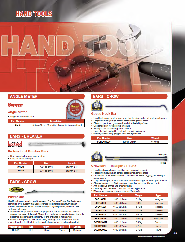 ISG Catalogue - Section 2 - Handtools