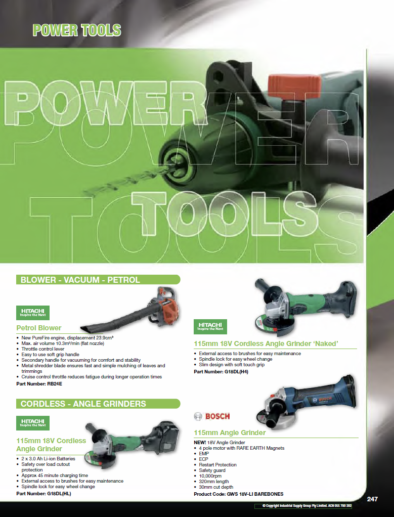 ISG Catalogue - Section 4 - Power Tools