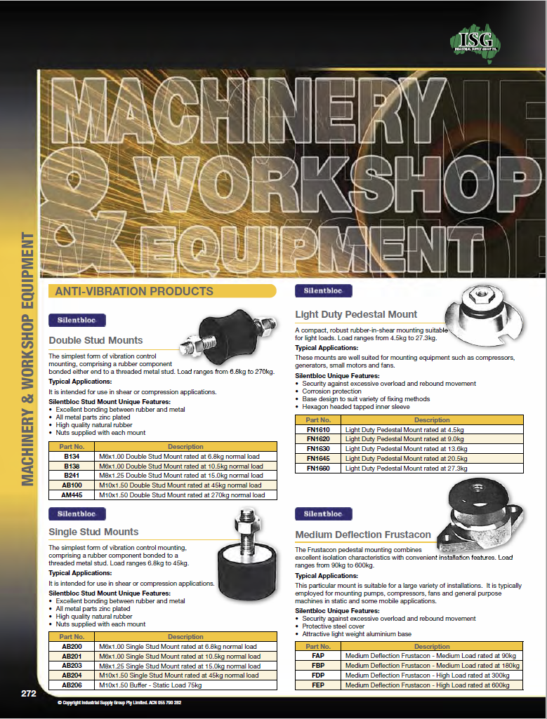 ISG Catalogue - Section 5 - Machinery