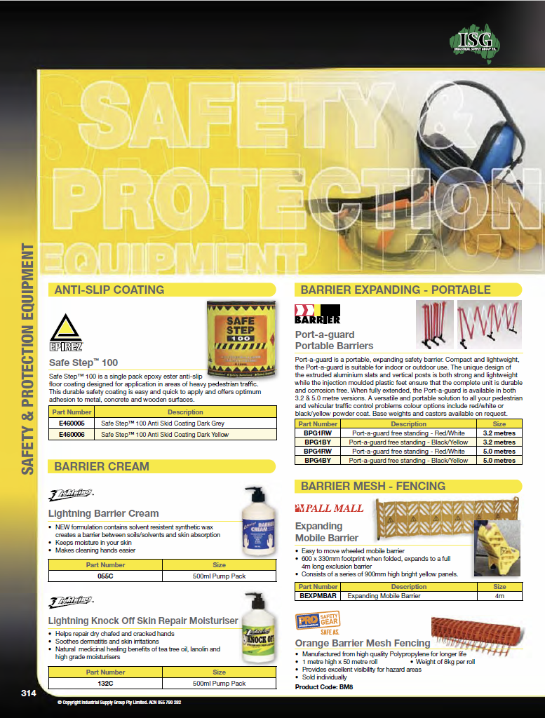 ISG Catalogue - Section 7 - Safety