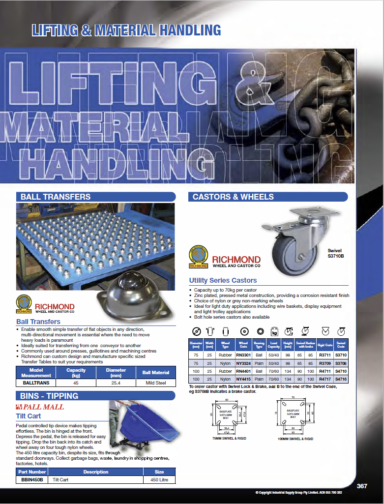 ISG Catalogue - Section 8 - Lifting