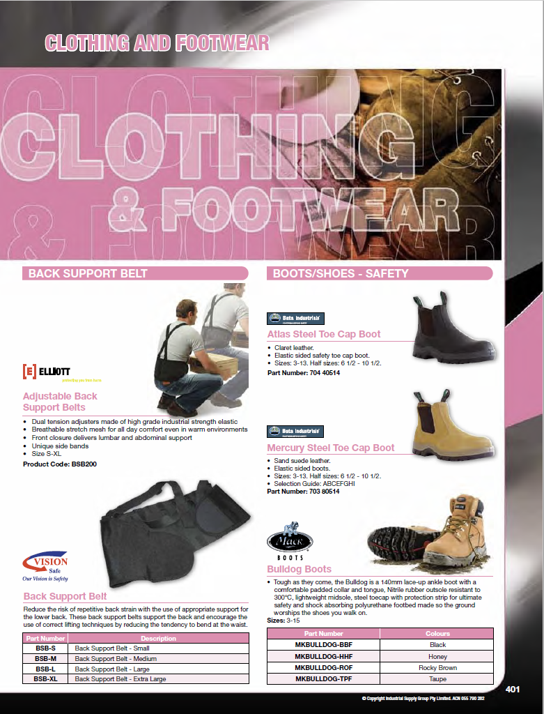 ISG Catalogue - Section 9 - Clothing & Footwear